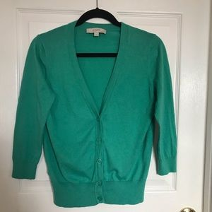 Ann Taylor Loft teal cardigan.Size M